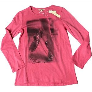 Girls point shoes ballet shirt size 10